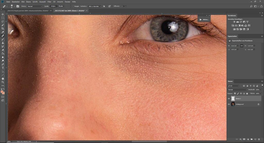Ausbesserungswerkzeug Photoshop